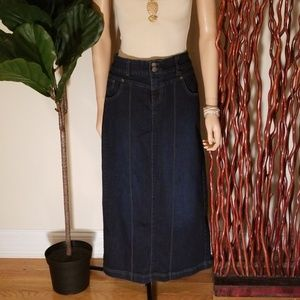 Style & Co. Denim Tummy Control Long Skirt